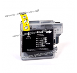 LC-980BK/LC-1100BK Brother Compatible inkt cartridge, Black