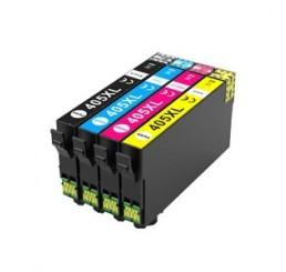Geschikt Epson 405XL Inktcartridges Multipack C/M/Y/BK Hoge Capaciteit