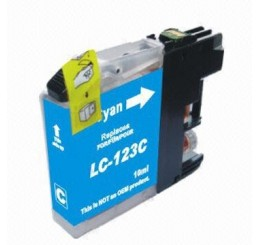 Brother LC-123C inkt cartridge, Cyaan (Huismerk)