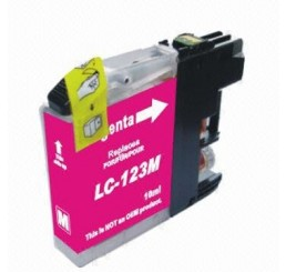 Brother LC-123M inkt cartridge, Magenta (Huismerk)