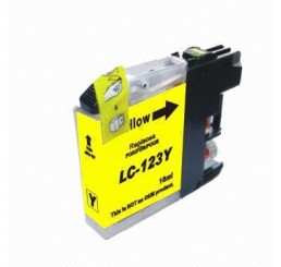 Brother LC-123Y inkt cartridge, Yellow (Huismerk)
