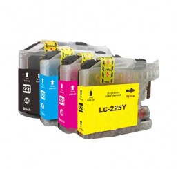 Brother LC-225XL/LC-227XL Voordeelverpakking inkt cartridges, BK/C/M/Y (Huismerk)