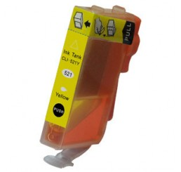 CLI-521Y compatible cartridge (met chip) - Yellow