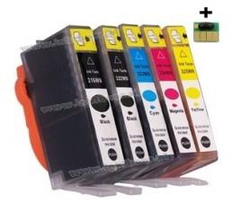 HP 364XL Huismerk Cartridges Voordeelset (C/M/Y/B/PB), Met Chip! Nieuwste Versie.