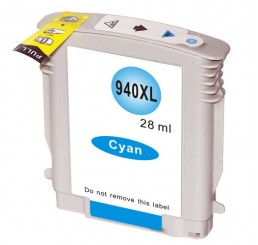 HP 940XL Inktcartridge Huismerk / C4907A Cyaan (Met Chip)