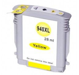 HP 940XL Inktcartridge Huismerk / C4909A Yellow (Met Chip)