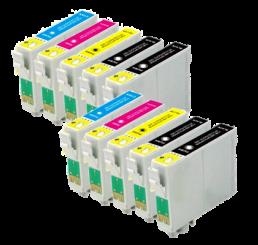 T1295 Epson 10 stuks T1291-T1294 Black 4x Alle kleuren 2x (Huismerk)