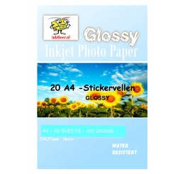 Multifunctionele Stickervellen A4 sticker Glossy