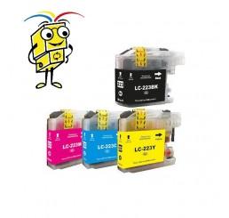 Brother LC223 Voordeelverpakking inkt cartridges, BK/C/M/Y (Huismerk)