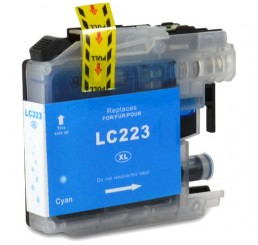 Brother LC223C inkt cartridge, Cyaan (Huismerk)