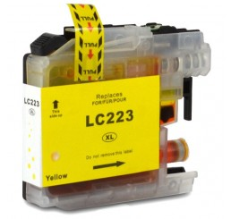 Brother LC223Y inkt cartridge, Yellow (Huismerk)