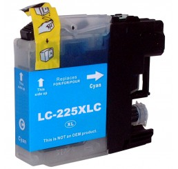 Brother LC-225XLC inkt cartridge, Cyaan (Huismerk)