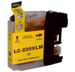Brother LC-225XLY inkt cartridge, Yellow (Huismerk)