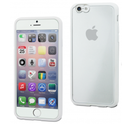 Muvit iPhone 6 / 6S Bimat Case Wit/Transparant