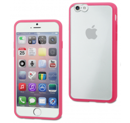 Muvit iPhone 6 / 6S Bimat Case Roze/Transparant