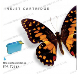 T2702/T2712 nr. 27XL Epson Inkt Cartridge Cyaan (Huismerk)