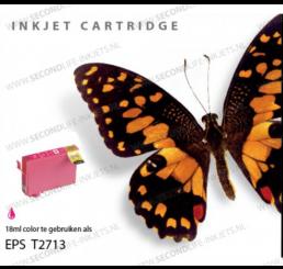 T2703/T2713 nr. 27XL Epson Inkt Cartridge Magenta (Huismerk)