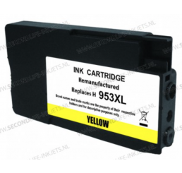 HP 953XL inktcartridge Yellow, Huismerk 20ml.