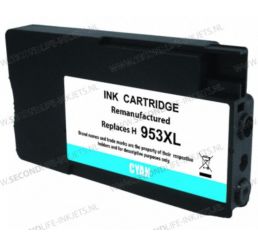 HP 953XL inktcartridge Cyaan, Huismerk 20ml.