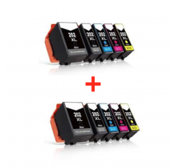 10 Stuks Epson 202XL inktcartridges (Huismerk)