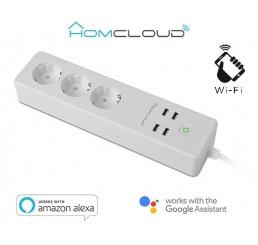 Slimme stekkerdoos - Homcloud - 3 x Stekker en 4x USB WIFI (16A EU)