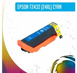 Epson 24XL (T2432) inkt cartridge Cyaan, Huismerk
