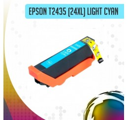 Epson 24XL (T2435) inkt cartridge Light Cyaan, Huismerk