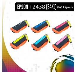 Epson 24XL Multipack (T2438) inkt cartridges, Huismerk