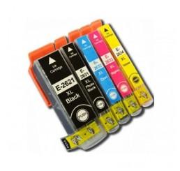 Geschikt Epson 26XL (T2636) Inkt Cartridges Multipack (5 stuks)