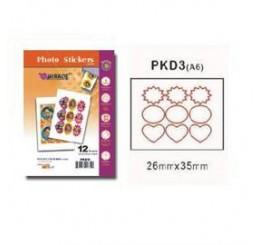 Mini voorgevormde foto stickers 12 vel van 6 stickers per vel