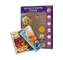 A4 Dubbelzijdig fotopapier  Mat/Glans 20 vel 185 gram