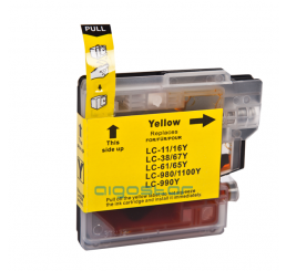 LC-980Y/LC-1100Y Brother Compatible inkt cartridge, Yellow