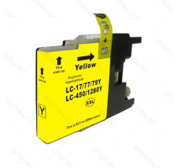 LC-1280Y Brother inkt cartridge, Yellow (Huismerk)
