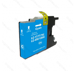 LC-1280C Brother inkt cartridge, Cyaan (Huismerk)
