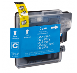 LC-980C/LC-1100C Brother Compatible inkt cartridge, Cyaan